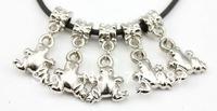 50pcs wholesale lots Fashion DIY Charms Big hole Frog shaped pendant CCB dangle Drop beads fit Euopean bracelet  Bangle Jewelry