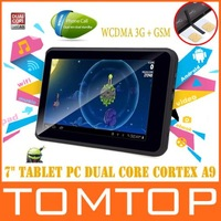 7 inch Freelander 3G dual core tablet pc android 4.0 GPS MTK 6577 1GB RAM 8GB ROM Dual Sim Phone Call WCDMA 3G WiFi Bluetooth