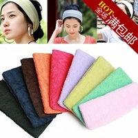 Candy color sports yoga head protection wide ribbon headband toweled general FREE SHIPPING