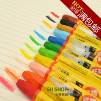 Shining eco-friendly 12 oil painting stick oil painting stick colorful bar crayon color bar paint chalk set FREE SHIPPING