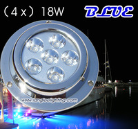 Promotion (4pc) x 18W BLUE Color Underwater Boat Light Transom lights wake board lamp Fishing Light