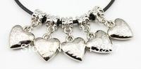 50pcs wholesale lots Fashion DIY Charms Big hole Heart Shaped pendant CCB dangle Drop beads fit Euopean bracelet  Bangle Jewelry