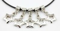 New Style 50pc wholesale Fashion DIY Charm Big hole Star Shaped Pendant CCB dangle beads fit Euopean bracelet  Bangle Jewelry