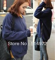 Best selling!! long sleeve women T-shirt thicking side zipper ladies Blouse female Sweatshirts free shipping