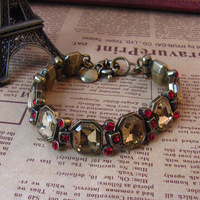Free shipping wholesales 1lot/5pcs European style Fashion crystal bracelet fashion vintage style jewelry Alloy