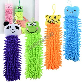 12pcs/lot Chenille fabric microfiber lovely animal cleaning towel, cartoon hand towels for Kitchen Bathroom Office Car Use 4285