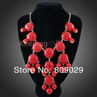 Big Color Candy Color Bubble Necklace New Fashion Bib Bubble long Necklces 13 colors for Women free shipping