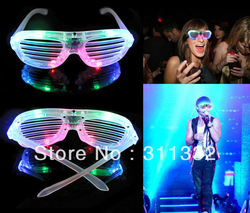 New LED Fashion Shutter Sunglasses Glow Light Glasses(China (Mainland))