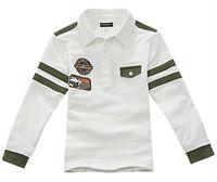 Wholesale 5 pcs Spring Autumn Children boy baby Kids cute long sleeve cotton polo thsirt t shirt children clothing top PDQZ02P15