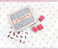 3pcs/lot Korea stationery cute tin seal multi-purpose DIY album diary  essential stamp Ink pad