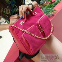 Nubuck leather vintage chain bag buddhistan women's red handbag fashion big 2013 bags
