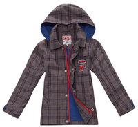 Wholesale 7 pcs cotton Spring Autumn Yellow Red Plaid Children Boy Kids baby  Dark long sleeve Coat jacket outwear TOP PCQS09P07
