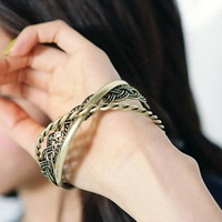 jewelry  trinuclear vintage fashion knitted bracelet cool multi-layer bracelet freeshipping