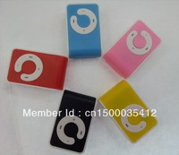 New C Shape Clip MP3 Player With TF MicroSD Card Slot 10PCS For Sample Free Shipping