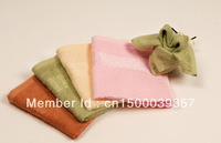 Free shipping 2 pcs Rhyme bamboo fiber scarf 100%high quality 34*34cm face towel