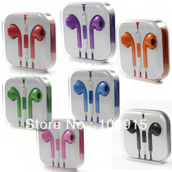 DC1022 Color Stereo Earphone EarPods Headset W/Mic+Volume Remote For iPhone 5 5G(China (Mainland))
