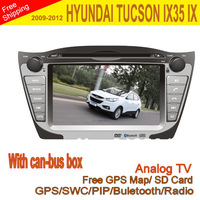 "WITH CAN-BUS BOX 7"" Car DVD Player for HYUNDAI TUCSON IX35 IX 2009-2012 with GPS Navi Radio RDS Bluetooth USB SD iPod"