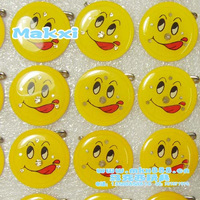 2 bar supplies led brooch flash brooch - smiley brooch