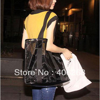 free shipping  2013 new style gauze transparent  crystal beach bag  perspectivity single shoulder bag