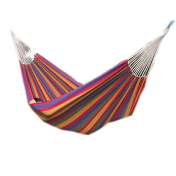 Free shipping Indoor outdoor single double hammock print thickening canvas fabric hammocks