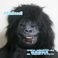 Super terror mask pullover latex mask black orangutan mask wigs 200g