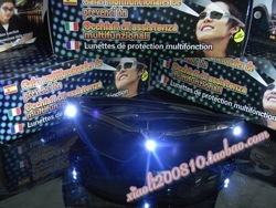 Led luminous glasses music glasses personalized red silver black sunglasses flashing glasses(China (Mainland))