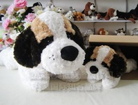 Extra large saint bernard mother and son the dog pillow plush toy day gift