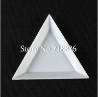Free shipping! 100pcs x TRIANGLE PLASTIC SORTING TRAYS RHINESTONES BEADS CRYSTAL NAIL ART TOOLS