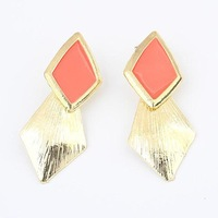 Min. order is $10(mix)  629 Temperament metal drip fashion earrings fashion multicolor crystal bow earrring  wholesale 2013