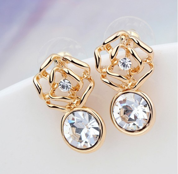 2013 hot selling earrings with emerald Austria Crystal earring fashion jewelry Wholesale ,made with Swarovski element(China (Mainland))