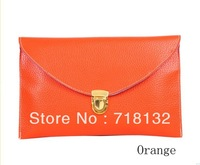 Summer women's handbag candy color envelope bag one shoulder bag for women color block ultra-thin female