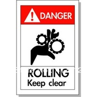 keep clear sticker warning label equipment involved in a danger security identity safety signs waterproof labels custom printed
