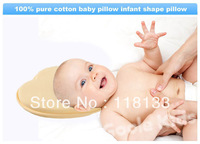 Free shipping wholesale GOOLEKIDS pure cotton baby pillow infant shape pillow Correct the flat head