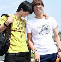 2012 summer wheel size pattern men's clothing short-sleeve T-shirt
