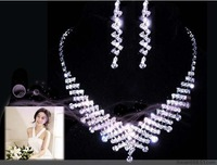 Bridal jewelry set piece wedding dress necklace accessories necklace set rhinestone chain sets chain sets
