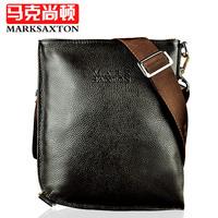Cowhide male bag man shoulder bag fashionable casual messenger bag
