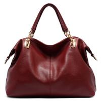 199 ! big women's shoulder messenger handbag genuine leather bag