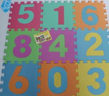 Free shipping!Baby Floor Mat Eva foam baby crawling mat child puzzle digital floor mats jigsaw puzzle carpet