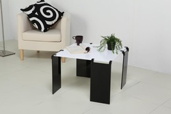 The Special ~ DIY creative tea table,eco-friendly materials acrylic (pmma) modern minimalist coffee table,black and white(China (Mainland))