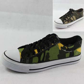 Free Shipping Summer Camouflage shoes low casual canvas shoes skateboarding shoes men's