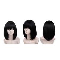 Touhou Project Shameimaru Aya Medium Length Black Cosplay Wig Short Long Bob Synthetic Wig free shipping