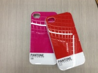 (1pc HongKong Post Air Mail  )Bulk  Pantone case for iphone 4 4s iphone4 case phone cases