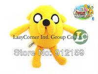 "Wholesale NEW 5""  12cm Adventure Time Jake Plush Doll Plump Jake Plush Toy Keychain Phone Pendant Gift 50pcs/Lot Free Shipping"