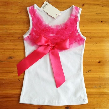 5pcs/lot free shipping baby pettitop tutu top baby t-shirts high quality cute design