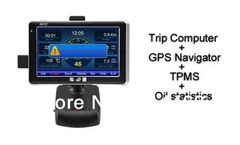 Traffic computer, TPMS, GPS Naviation, Fuel statistics, Trip computer A602 OBD car computer