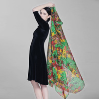 Silk scarf silk women's 100 mulberry silk long silk scarf cape scarf long