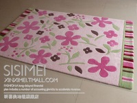 Carpet xm-2053 pink rustic handmade coffee table carpet 140 200cm customize