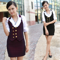 Work wear autumn and winter female stewardess uniforms professional set women's fashion work wear 13
