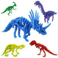16 pcs EVA Dinosaur Skeleton Model, Child Handmade DIY Model, Children DIY Toy Free Shipping