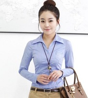 2013 women's ol fashion long-sleeve slim shirt women's shirt summer work wear 503